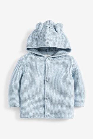 Blue Bear Hooded Cardigan (0mths-3yrs)