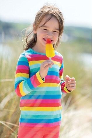 Frugi GOTS Organic Rainbow Long Sleeve Top