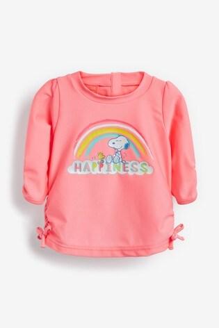 Sunuva Pink Snoopy Rash Vest