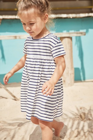 Navy/White Stripe Dress (3mths-7yrs)