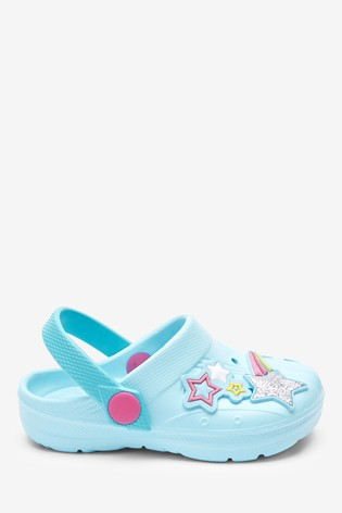 Teal Unicorn Clogs (Younger)