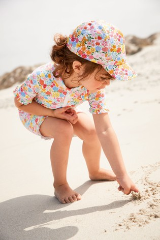 Multi Ditsy Sunsafe Suit (3mths-7yrs)