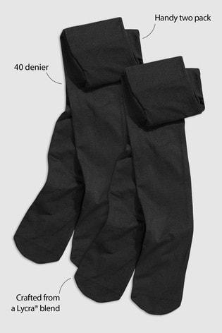 Black 2 Pack 40 Denier Tights