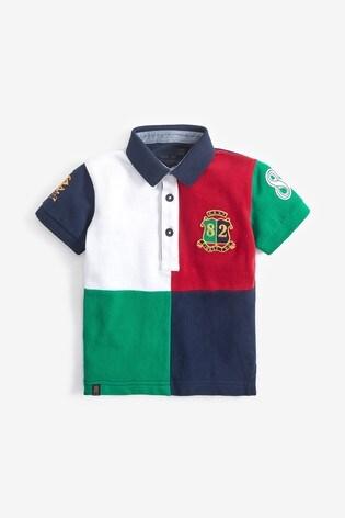 Multi Short Sleeve Colourblock Polo (3mths-7yrs)
