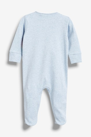 Blue Little Bro Rocket Sleepsuit (0-18mths)