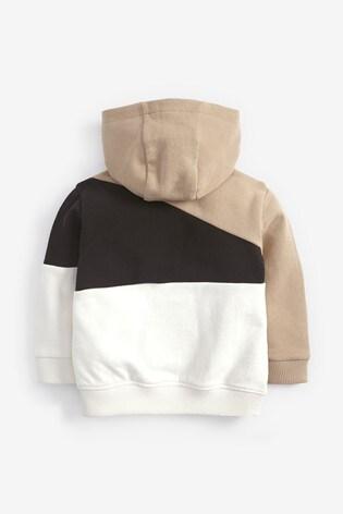 Mono Colourblock Zip Through Hoody (3mths-7yrs)