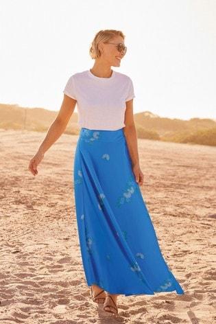 Blue Emma Willis Wrap Skirt