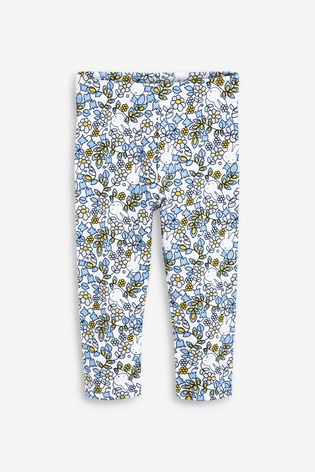 White Miffy Licence All Over Print Leggings (3mths-7yrs)