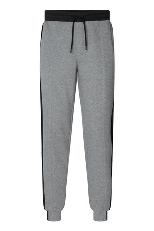 Calvin Klein Grey Mixed Media Logo Sweatpants