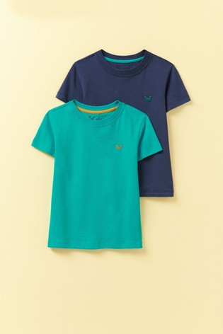 Crew Clothing Company Blue Classic T-Shirts 2 Pack