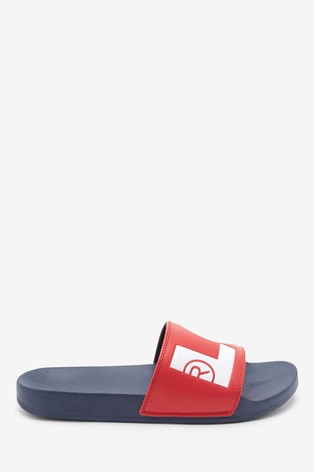 Levi's® Navy/Red Logo Sliders