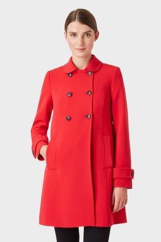 Hobbs Red Adrienne Coat