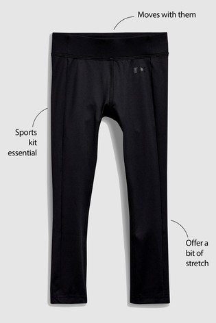 Black Sport Leggings (3-16yrs)