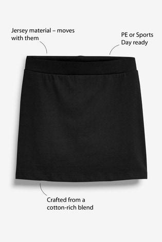 Black Jersey Skort (3-16yrs)