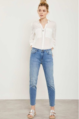 Mint Velvet Blue Houston Indigo Distressed Jeans