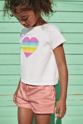 Peach Coloured Denim Shorts (3-16yrs)