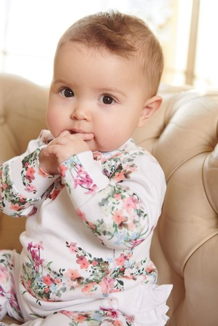 Baker by Ted Baker Baby Girls Floral Sleepsuit And Hat