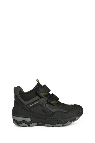 Geox Junior Boy/Unisex Buller Black/Military Velcro Shoes