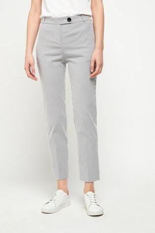 White/Navy Stripe Slim Trousers