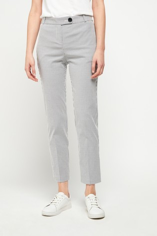 White/Navy Stripe Slim Trousers