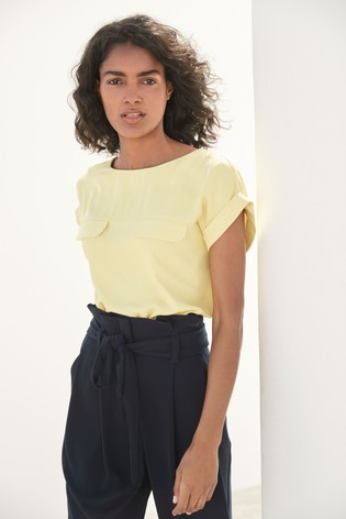Yellow Utility Top