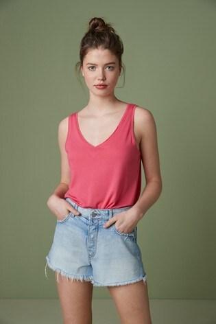 Fuchsia Pink Slouch Vest