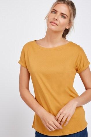 Ochre Cap Sleeve T-Shirt