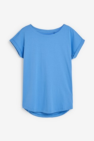Buy Pale Blue Cap Sleeve T Shirt From Next Usa