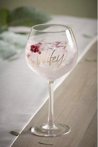 Wifey Gin Glass