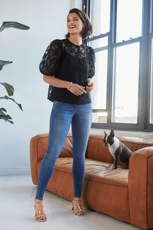 Mid Blue Lift, Slim And Shape Skinny Jeans