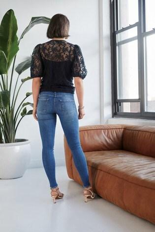 Mid Blue Lift, Slim And Shape Skinny Jeans