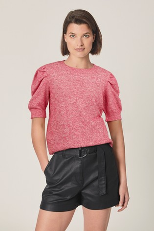 Pink Puff Sleeve Jumper
