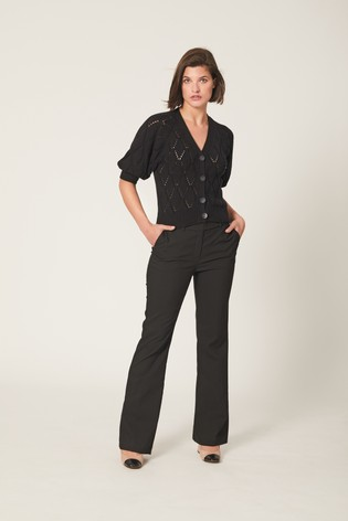 Black Boot Cut Trousers