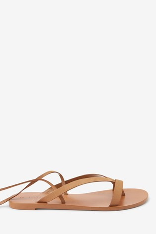 Tan Emma Willis Ankle Wrap Sandals