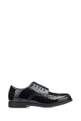Start-Rite SNR Black Patent Standard Fit Brogue Shoes
