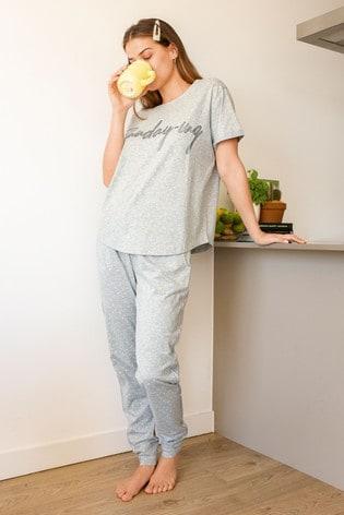 Grey Star Cotton Pyjamas