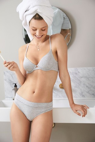 Grey Thong Forever Comfort® Knickers