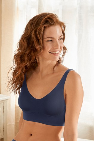 Navy Daisy Forever Comfort® Longline Non Wired Bra