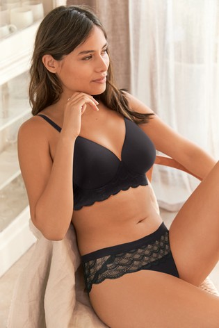 Black High Leg Next Forever Comfort® Supersoft Knickers