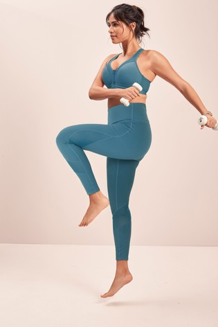 Teal High Waisted Full Length Sculpting Leggings