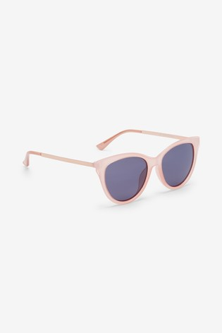 Pale Pink Cat Eye Polarised Sunglasses
