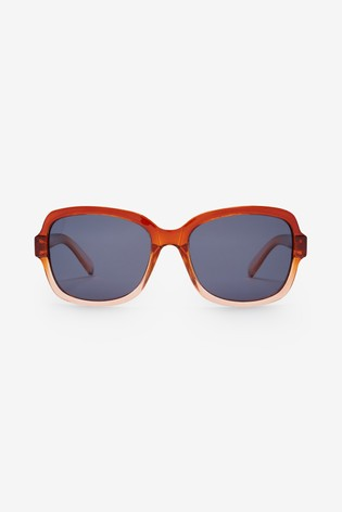 Rust Small Square Polarised Sunglasses