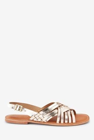 Gold Forever Comfort® Woven Slingback Sandals