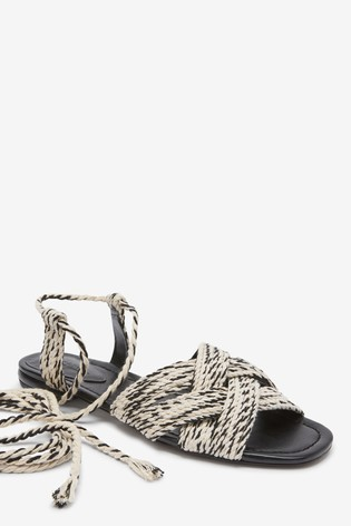 Monochrome Rope Sandals
