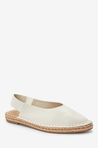 Bone Espadrille Slingback Shoes
