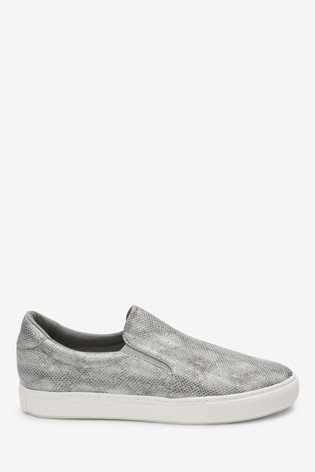 Grey Snake Effect Forever Comfort® Slip-On Trainers