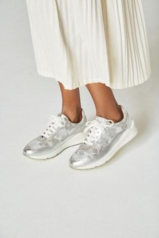 Silver Signature Comfort Trainers