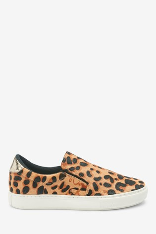 Animal Print Signature Leather Skater Shoes