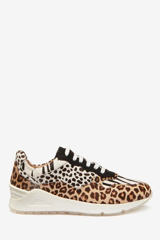 Animal Print Signature Sports Trainers