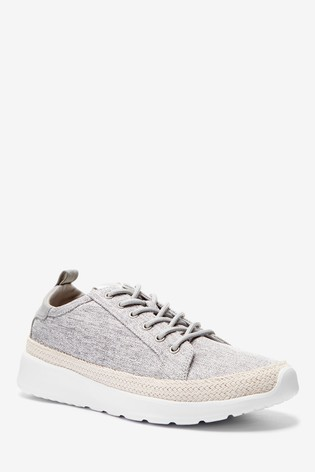 Grey Espadrille Trainers